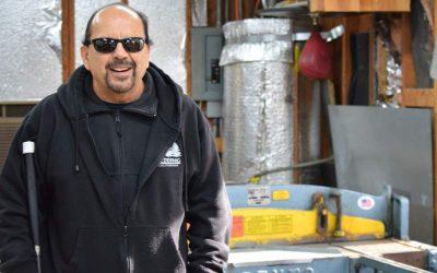 Owner of Santa Rosa's Morris Heating and Sheet Metal overcomes blindness