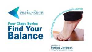 Find Your Balance 4 Class Series displays two bare feet balancing on their toes