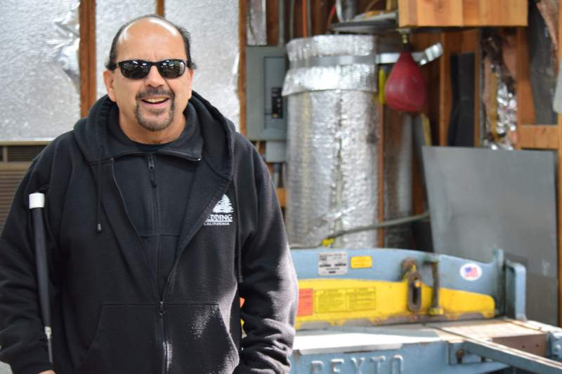 Owner of Santa Rosa's Morris Heating and Sheet Metal overcomes blindness