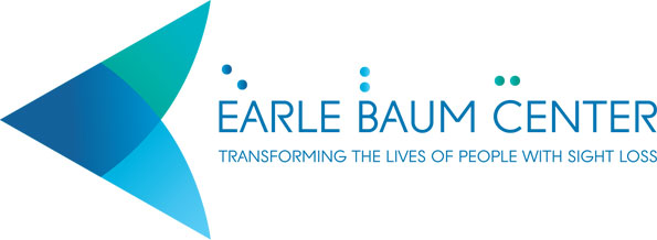Earle Baum Center Logo illustrating a conceptual sideview of an eye
